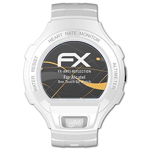 atFoliX Película Protectora Compatible con Alcatel One Touch Go Watch Lámina Protectora de Pantalla, antirreflejos y amortiguadores FX Protector Película (3X)