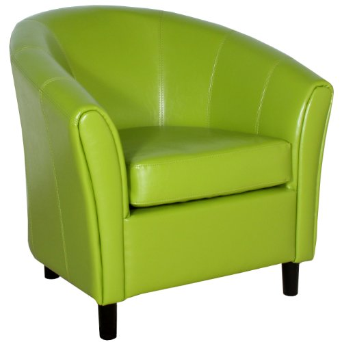 Best-selling Napoli Lime Green Leather Chair