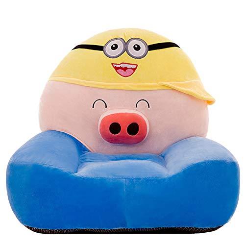 DQYFZQ Children's foldable sofa children's plush sponge armrest sofa bed toy lazy sofa seat children's chair,B,50CM