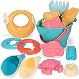 WWWL Juguete de Playa Verano Silicona Suave bebé Playa Juguetes Juguetes niños Malla Bolsa baño Juego Conjunto Playa Fiesta Carro Cubo moldes de Arena Regalo Regalos