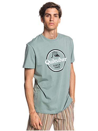 Quiksilver™ Words Remain - T-Shirt - Homme - S - Vert