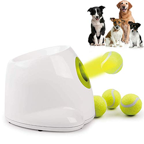YUNDING Interactive Automatic Dog Tennis Ball Throwing Machine with 3 Balls Dog Automatic Ball Launcher IQ Training Ball Launcher Dog Toy for Dog