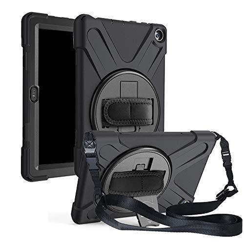 Mogzank para Amazon HD8 Soporte Giratorio para PC, Funda Protectora de Silicona, para Amazon Fire8 Correa Trasera-1