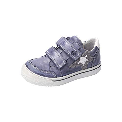 RICOSTA Jungen Kletthalbschuhe Lucas, Weite: Mittel (WMS), Halbschuh Klettverschluss strassenschuh Sneaker freizeitschuh,See,31 EU / 12 Child UK