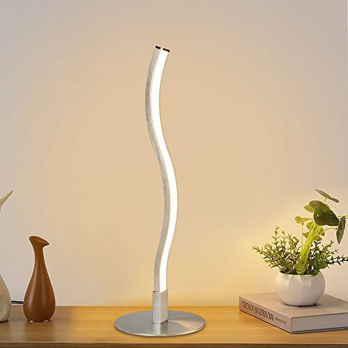 Depuley - Lámpara de mesa LED moderna para dormitorio, 6 W,
