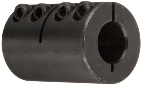 Climax Part ISCC-062-050 Mild Steel, Black Oxide Plating Clamping Coupling, 5/8 inch X 1/2 inch bore, 1 5/16 inch OD, 2 inch Length, 10-32 x 1/2 Clamp Screw