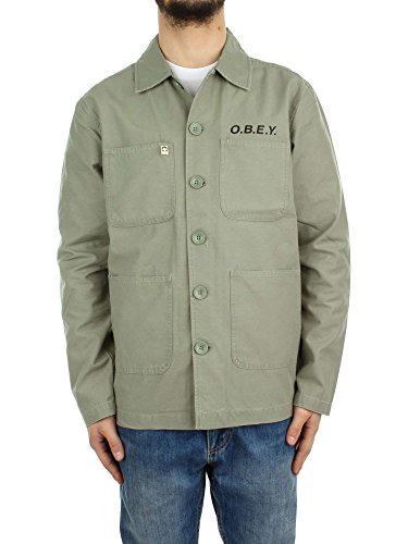 GIACCA UOMO OBEY LOOKOUT JACKET 121800268 (L - 22 LTA LIGHT ARMY)