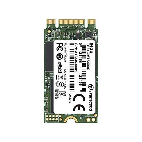 Transcend 64GB SATA III 6Gb/s MTS400S 42 mm M.2 SSD 400S SSD TS64GMTS400S