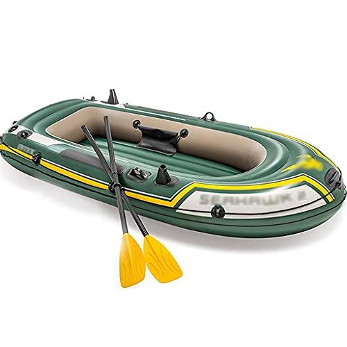 Priority Culture Kayak Gonflable Convient pour 2 À 4 Personnes Canoe avec Tente Kayak De Mer Convient pour Sortir en Mer Et Pêcher (Color : Green, Size : 236 * 114cm)