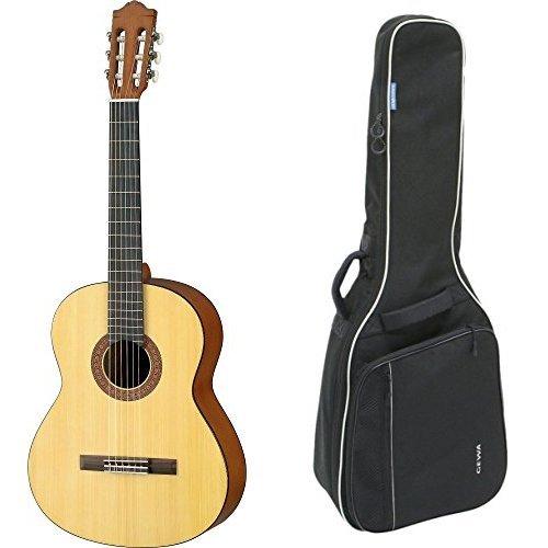 Yamaha C40M Akustik Konzertgitarre natur matt + Gewa 212100 Economy 4/4 Klassikgitarren Gig Bag schwarz Bundle