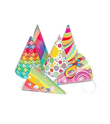 Partyklar 25 Chapeaux d'anniversaire Chapeaux de fête