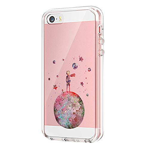 iPhone SE Clear Case, Ultra Slim Shockproof Soft TPU Back Cover for iPhone 5 5S (iPhone 5 5S SE, 6)