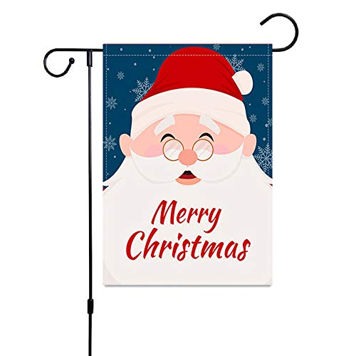 UUU DAMAO Merry Christmas Garden Flag, Welcome Garden Double Sided Decoration Yard Flags with Santa Claus for Outside Home Holiday Farmhouse Christmas Decor