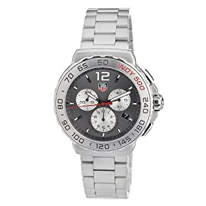 Tag Heuer Men's Cau1113.Ba0858 Quartz Chronograph Grey Dial Stainless Steel Watch