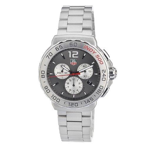 Tag Heuer Men's Cau1113.Ba0858 Quartz Chronograph Grey-Dial Stainless Steel Watch