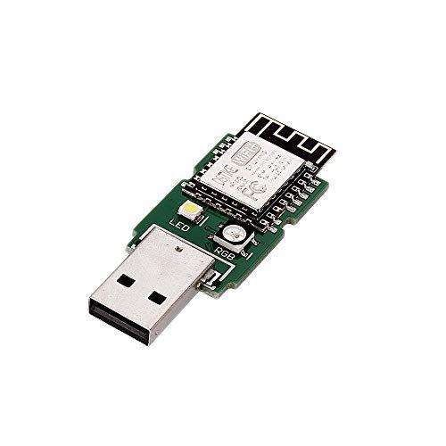 Módulo electrónico USB DeAuther Tiny ESP8266 Tablero de desarrollo con 4MB ESP-12E RGB LED 5V Equipo electrónico de alta precisión