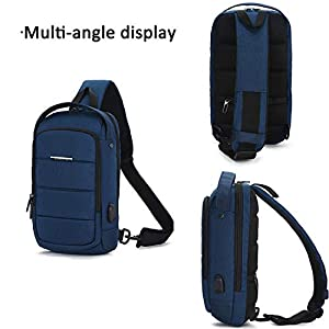 41PkiBOLIpL. SS300  - FANDARE Unisexo Bolso de Pecho 7.9 Inch iPad Sling Bag Hombre Bolso de Crossbody Mujer Outdoor Viaje Sport Riding…