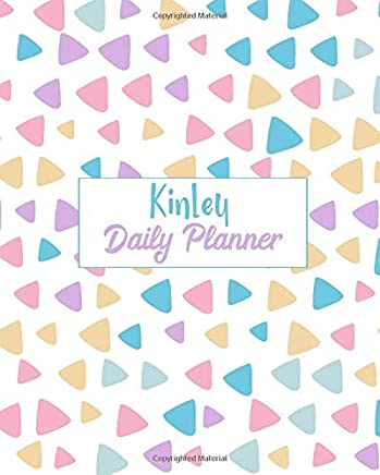 Kinley Daily Planner: 100 Sheet 8x10 inches for Diary, Planners, Notes, for Girls, Woman, Children and Initial name on Matte Pastel Design Cover , Kinley Daily Planner