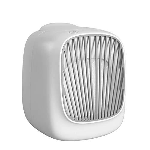 QULONG Enfriador de Aire Personal, Zona Desk USB por evaporación del refrigerador de Aire del Ventilador, rápido enfriamiento del Espacio Personal, para la Seguridad del Viaje al Aire Libre,A