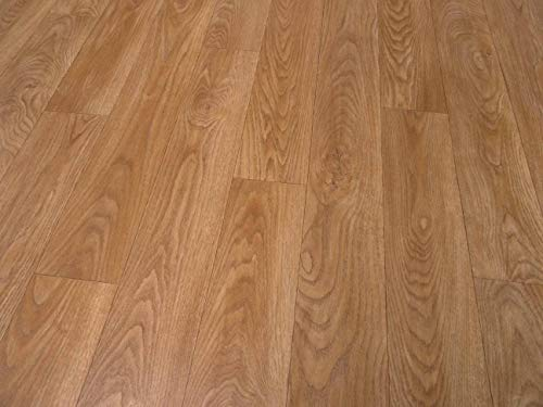 PVC Bodenbelag in glänzendem Holz (5,75€/m²), kleines Muster