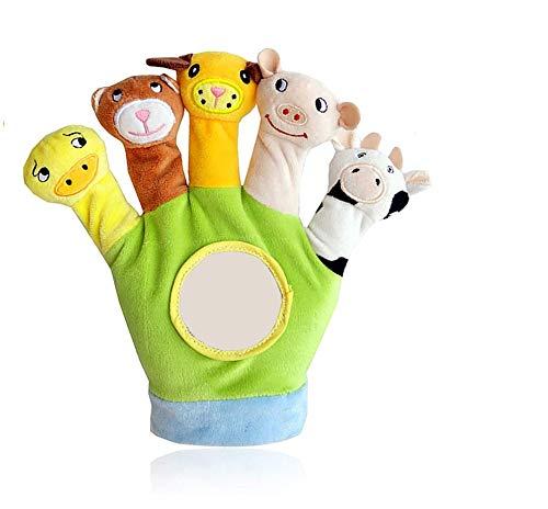 Xrten Animales de la Dedos títeres muñecos Marionetas de Mano Animales Juguetes para bebé niños