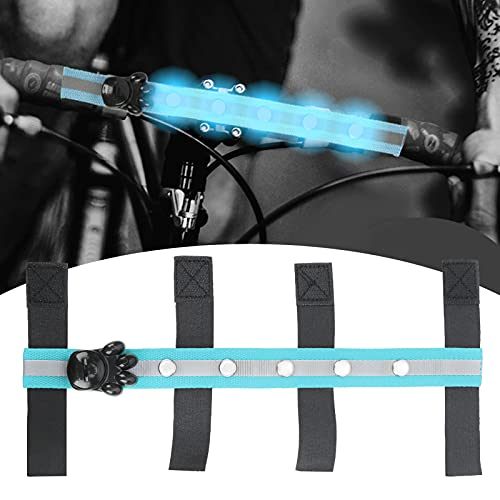 Cinturón LED ecuestre, diseño de gancho y bucle para cabeza de caballo LED para exterior para ecuestre(blue)