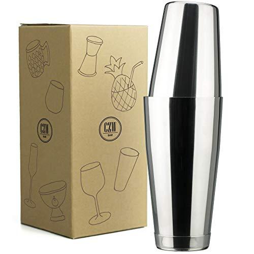 PG 2-Piece Premium Boston Cocktail Shaker 24oz, 18/8 Stainless Steel, Glossy Polish