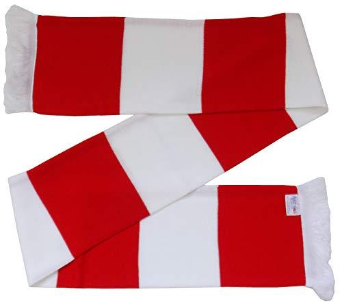 Leyton Orient Supporters Schal, Retro-Stil, Rot / Weiß