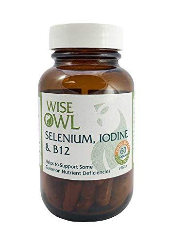 Wise Owl Selenium, Iodine & B12 60 Capsules