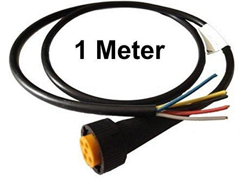 FKAnhängerteile 1 x Aspöck - Open End - Kabel 1m - 5 polig - Bajonett Anschluss - Gelb
