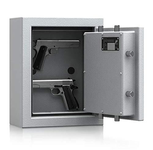 SafeHero Kurzwaffenschrank Grad 1 nach EN 1143-1 Secureo Hawk Pistol | Elektronikschloss | H440xB350xT175 | mit Magnet-Waffenhaltern | ECB-S Zertifikat