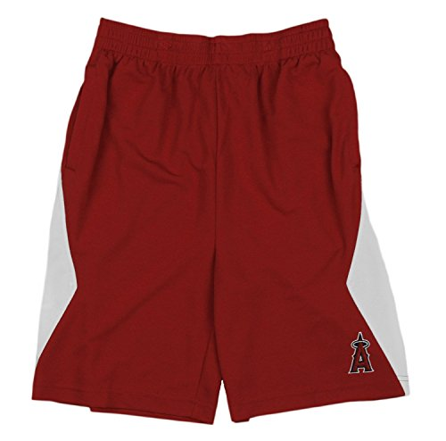 Outerstuff Los Angeles Angels MLB Little Boys and Big Boys Team Shorts - Red (XL (14/16))