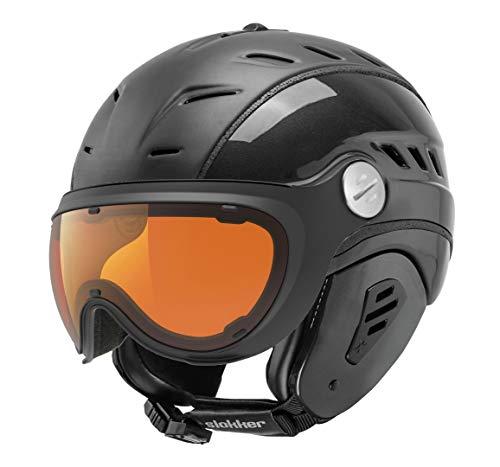 Slokker Bakka Black Polar-photocrom skihelm snowboardhelm skivizierhelm helm snowboard optimaal voor brildragers