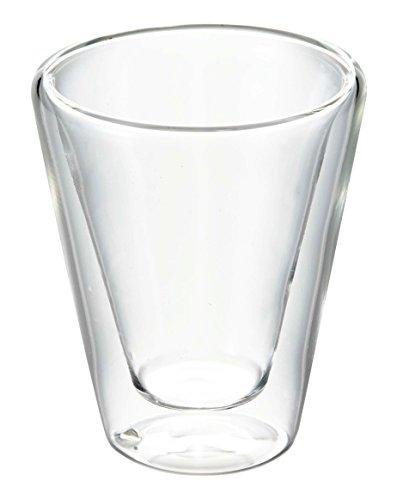 Bredemeijer 1455 Double paroi Verre Caffeino S/2, Borosilicate, Transparent, 61x61x75mm