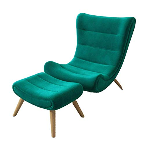 Schneckenstuhl Licht Wohnzimmer Freizeit Tiger Stuhl Schlafzimmer Balkon Lazy Lounge Chair Single Sofa mit hoher Rückenlehne Lazy Sofa Chair