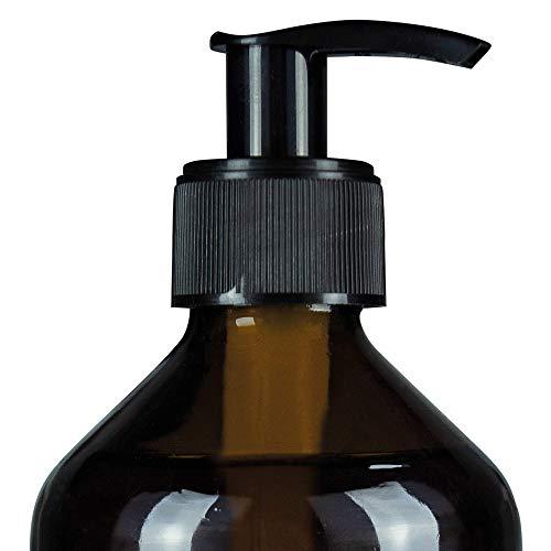 belso Pumpdosierer schwarz für Glasflasche - wiederwendbarer Pump Dispenser zum praktischen und kleckerfreien Dosieren Feel Futteröl für Hunde