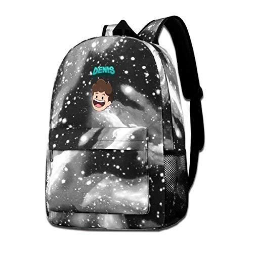 IUBBKI Denis Daily'S Life Backpack Starry Sky Multi-Function Bookbag Laptop Shoulder Bag for Teens Boys Girls Gray