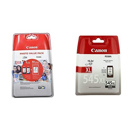 Canon Cartucho de Tinta Original Negro XL y Tricolor XL para Impresora de Inyeccion de Tinta Pixma + PG-545XL Cartucho de Tinta Original Negro XL para Impresora de Inyeccion de Tinta Pixma