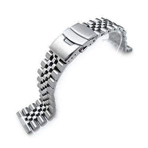 Cinturino per orologio Strapcode 22mm Super Jubilee in acciaio inossidabile...