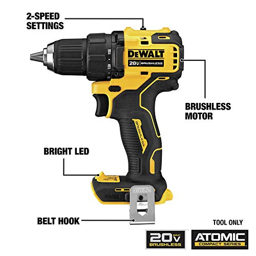 Dewalt DCK489D2 ATOMIC 20V MAX Brushless Lithium-Ion Cordless 4-Tool Combo Kit (2 Ah)