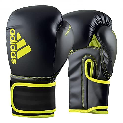 adidas Boxhandschuhe - Hybrid 80, schwarz/gelb, 14 oz