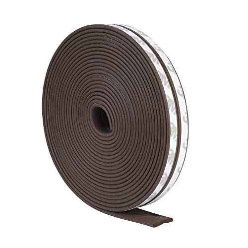 Tira de Sellado Insonorizar Adhesivo Cintas de Espuma para Tiras para Puerta Ventana Antigolpes 10m Marrón