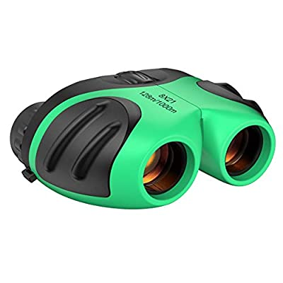 Dreamingbox Binoculars for Kids, 8x21 Compact Binoculars for Birding Wide Toys for 3-12 Year Old Boys Girls 2020 New Xmas Gifts for 3-12 Year Old Boys Telescope for Kids Stocking Fillers Green TGUS01