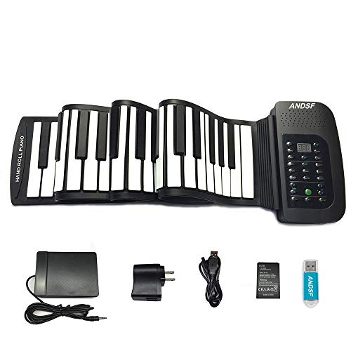 Roll up piano portable 88 key soft...