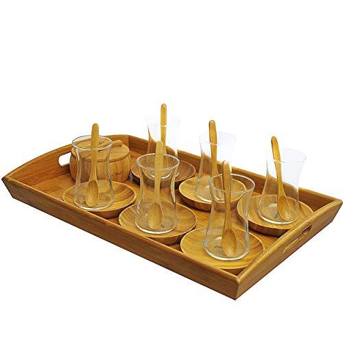 Bambum Set, 23-teilig Tee Set beige 4,5 x 6 cm