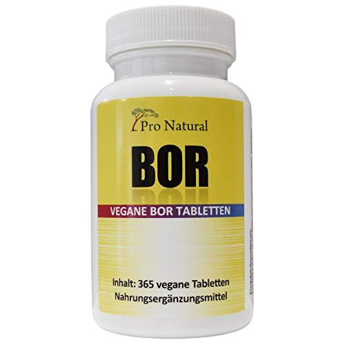 Boron-Tabletten mit 3 mg Bor pro Tablette aus Natriumborat 365 Stück Jahresvorrat 100% Vegan