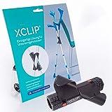 XCLIP - Soporte para muletas para llevar de viaje - Soporte para colocar muletas, andadores, apoyabrazos o bastones - Soporte para muletas para personas mayores