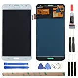 YHX-US Replacement for Samsung Galaxy J7 J700 J700F/DS J700H/DS J700M J700M/DS J700T J700P (2015) LCD Display Screen Touch Digitizer + A Set of Tools (White)