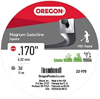 Oregon 22-970 Gatorline Heavy-Duty Professional Magnum .170-Inch-by-36-Foot, 1/2-Pound Coil of Square String Trimmer Line