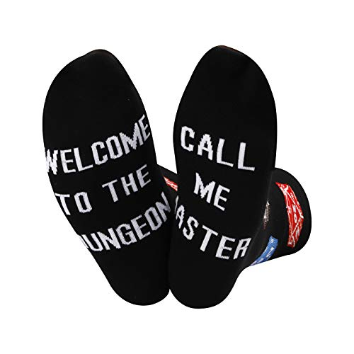 Chaussettes Dungeons and Dragons Welcome To The Dungeon Call Me Master - Cadeau pour joueur - - Medium